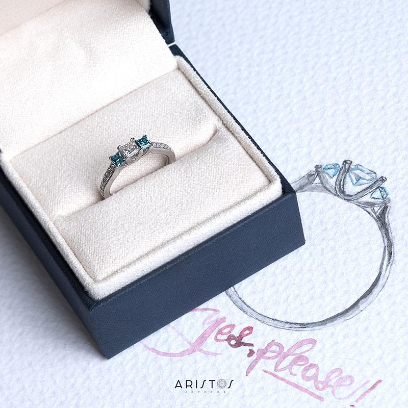 Diamante corte Prinicesa