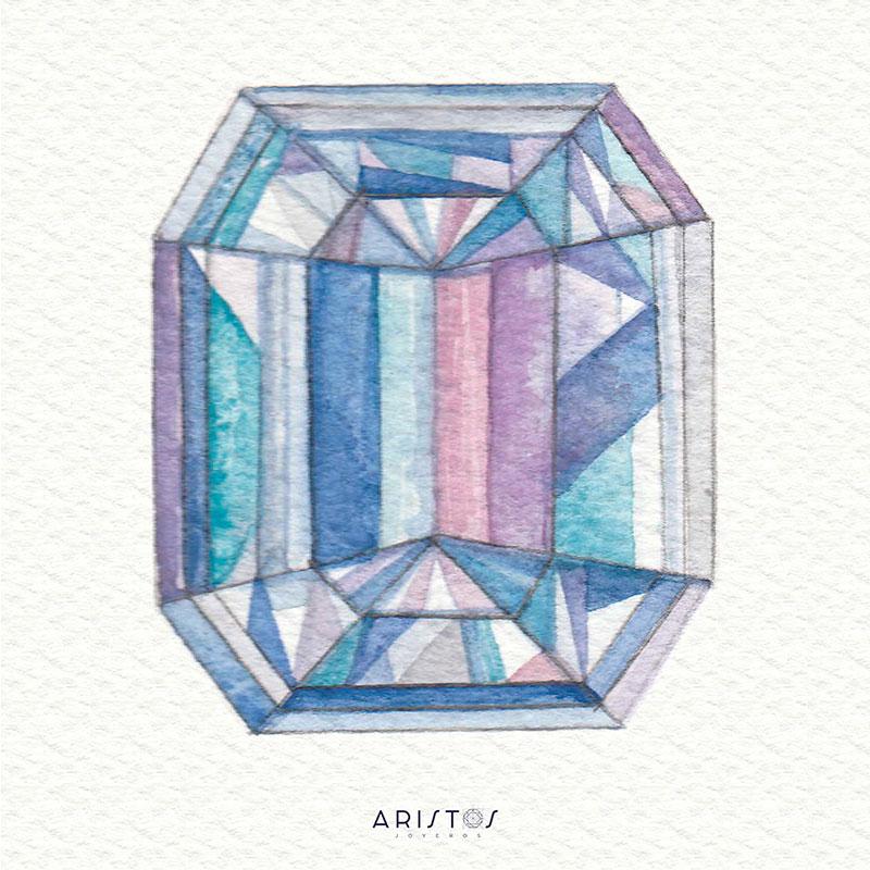 Diamante Corte Esmeralda